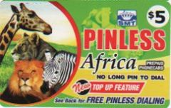 Pinless Africa Calling Card