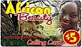 African Beauty Calling Card