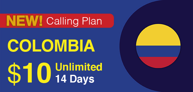 Colombia Calling Plan Pinless