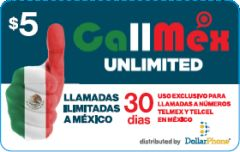 CallMex UnlimitedPrepaid Phone Card